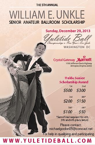 The William E. Unkle Senior Amateur Ballroom DanceSport Scholarship Competition at the Yuletide Ball Championships